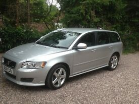 Volvo V50 R Design Geartronic silver 2010 59000 miles htd front seats Park assist Bixenon lights