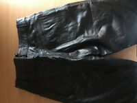 Milan real leather size 12 leather trousers