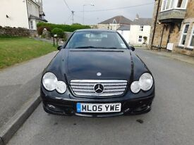 Black Mercedes Benz C180 Kompressor Car For Sale - Newquay Cornwall