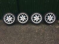 """DOTZ 4/100 17"""" Alloy Wheels Good Tires Ref.2"""