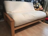 Futon / double sofa bed - HQ strong birch frame. RRP £699; this price £300; 7 months old.