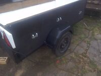 A strong tidy car trailer 6halfeet by3feet mini weels new tyres
