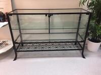 Ikea glass units storage