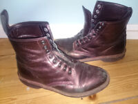 Dr Martens Made In England burgundy boots (size 7)
