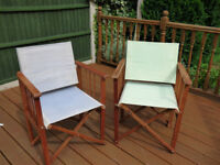 WOODEN DIRECTOR CHAIRS