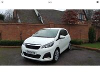 2015 PEUGEOT 108 ACTIVE WHITE ,CAT D, SALVAGE ,DAMAGED, CAR STILL IN WARRANTY