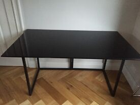 Glass topped table Habitat table