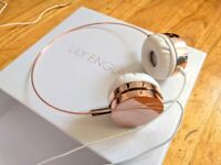 *Like New* Lily England Rose Gold Headphones Over Ear With Microphone