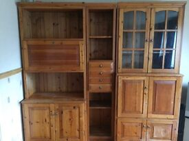 African oak 3piece wall unit
