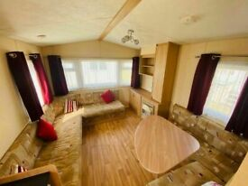 3 bedroom double glazed static caravan £248 per month - sited - used
