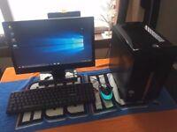 Packard Bell Full Desktop PC, Mini Tower, Intel Dual Core, 500GB HDD, 4GB Ram, HDMI WiFi, Windows 10
