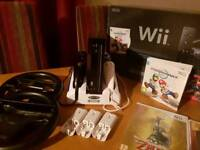 Boxed Mario Kart Black Wii Console