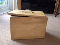""" NEXT "" Wooden / Chrome Bread Bin"
