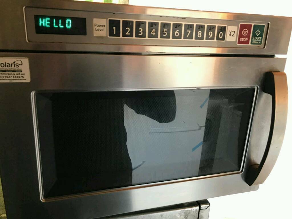 Polaris commercial microwave oven stainless steel