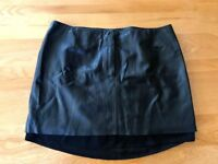 H&M leather skirt, size 12. Never worn.
