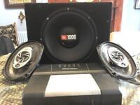 Pioneer car audio system with JBL 1000watt sub woofer