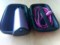 Hard Storage Case With Power Bank & Lightning Cable