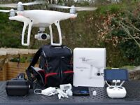 DJi Phantom 4 Drone. 4K Video Camera, Controller, Tablet and FPV Goggles
