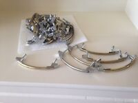 Brass plated furniture handles