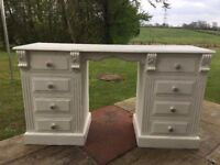 Antique Dressing Table (8 drawers) or Desk (shabby chic)