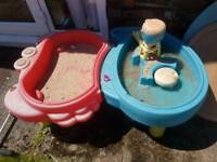 Little Tikes sand pit and water