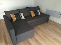 IKEA 3 SEATER CORNER SOFA BED!