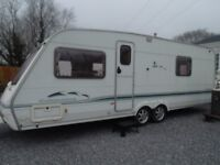 4 berth swift touring caravan with fixed bed 2004
