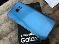 Samsung Galaxy S7 Edge Coral Blue Unlocked Boxed