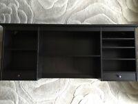 Add-on shelving unit for work desk