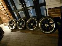 18 inch Lenzo Deep Dish Alloy wheels with 7mm tyres 5X100 AUDI VW SEAT 5 stud