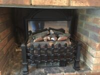 Log effect electric fireplace