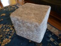 lovely square foot rest/seating stool , in lovely condition , only £15, collect from stanmore,middx.