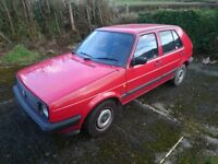 Original condition Mk2 Vw Golf. Good condition for its age