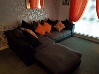 3 piece very comfortable right hand corner sofa