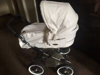Not used faux leather pram