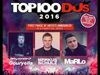 1 Ticket For Top 100 DJs Party at O2 Academy Brixton on Saturday 22 October 2016