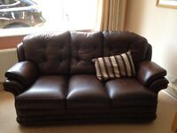 Brown Leather High Back Furniture