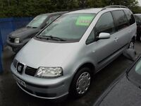 SEAT ALHAMBRA 1898cc SX TDI 130 TURBO DIESEL 7 SEATER MPV 2004-04, 6 Speed
