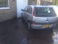 02 Vauxhall corsa 1.2 5 doors low miles 68000 low tax n insurance services history £495