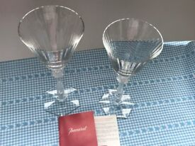 """£99 - Luxury French brand BACCARAT – 2 """"Arcade"""" Crystal glasses"""