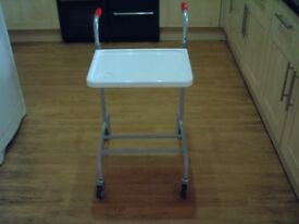 Disability walking frame with tray and rack. excellent condition