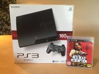 PS3 Slim Console 160GB with Red Dead Redemption and one controller