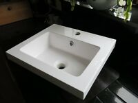 Vanity unit sink, white resin