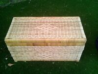 Wicker basket nice thing ideal as coffee table or chest in bedroom