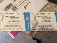2 x The Stone Roses Standing Tickets Hampden Park Saturday 24th June