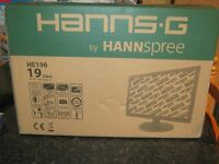 "HannsG 19"" computer/ desktop screen brand new"