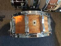 Ludwig Classic Maple snare drum. Limited Edition Satinwood. 2005. 14x6.5.