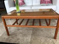 G Plan (?) SolidTeak Glass topped. Coffee Table