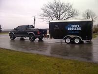 Electric Refrigerated/ Cooler Trailer Rentals w/ Draft Option