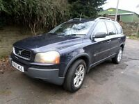 STUNNING 2005 VOLVO XC90 FULL BLACK LEATHER 7 SEATER SAT NAV MOT UNTIL OCT 2018